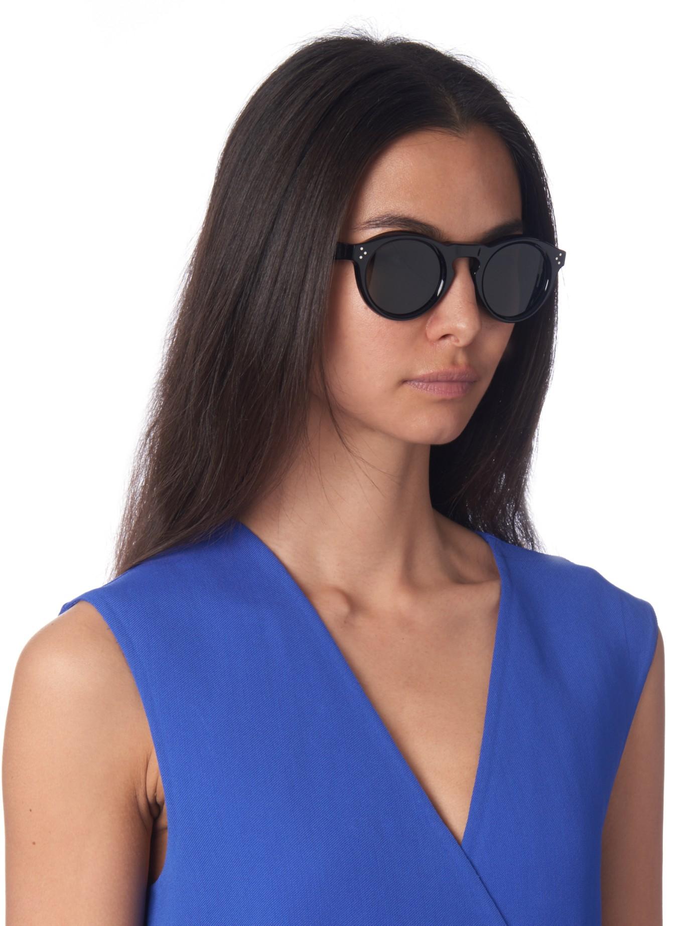 a88c4c6d52 Céline Round-frame Acetate Sunglasses in Black - Lyst