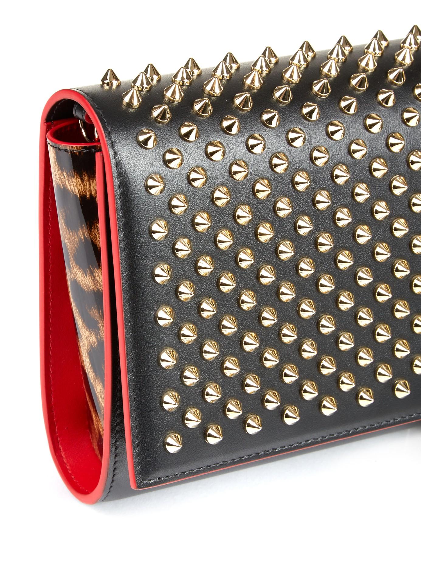 Black Paloma spike leather clutch Christian Louboutin fcfD5