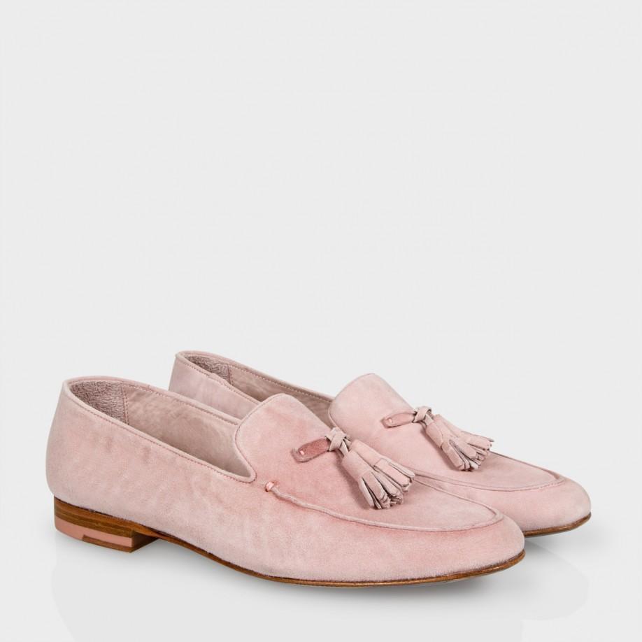795297132c4 Lyst - Paul Smith Dusty Pink Suede Tasseled  Stevenson  Loafers in Pink