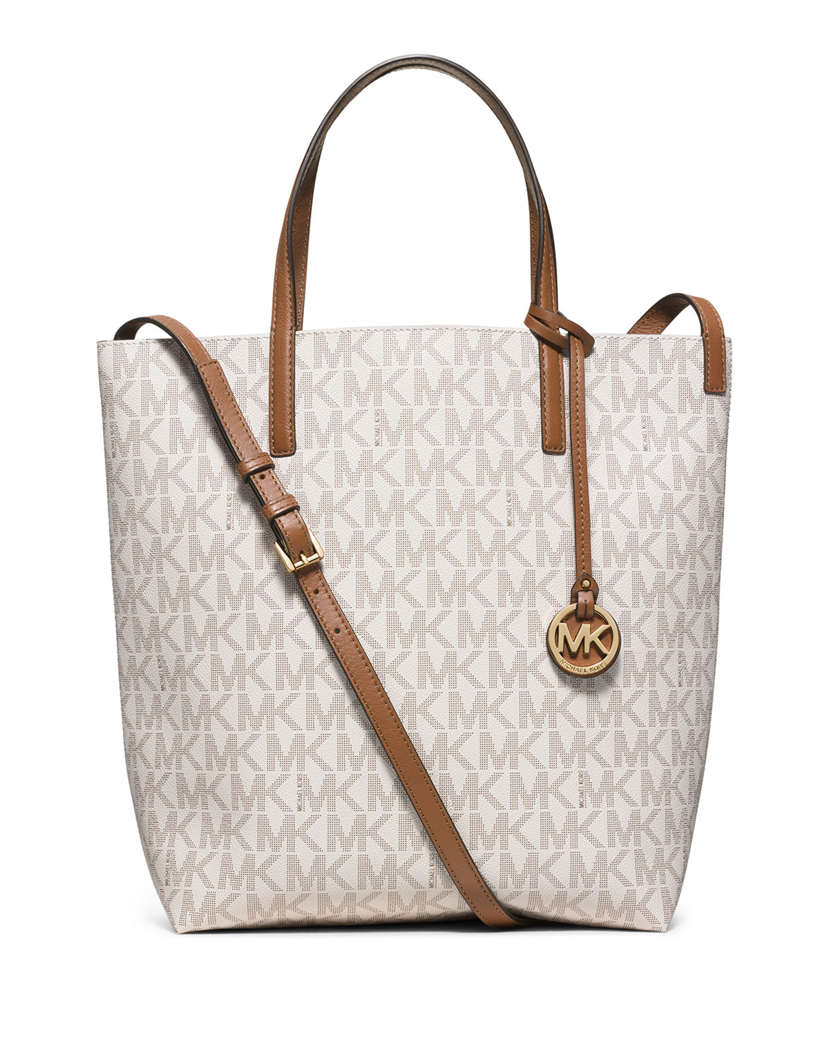 c158ec8a755c MICHAEL Michael Kors Hayley Large Convertible Tote Bag in White - Lyst