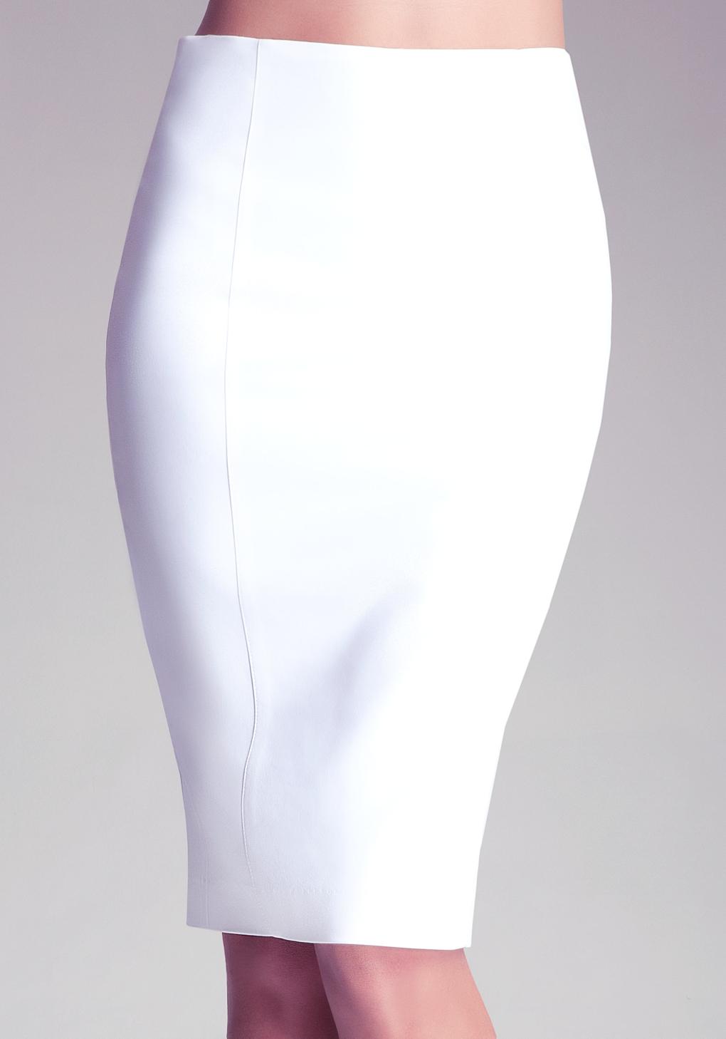 Lyst Bebe Zipper Pencil Skirt In White