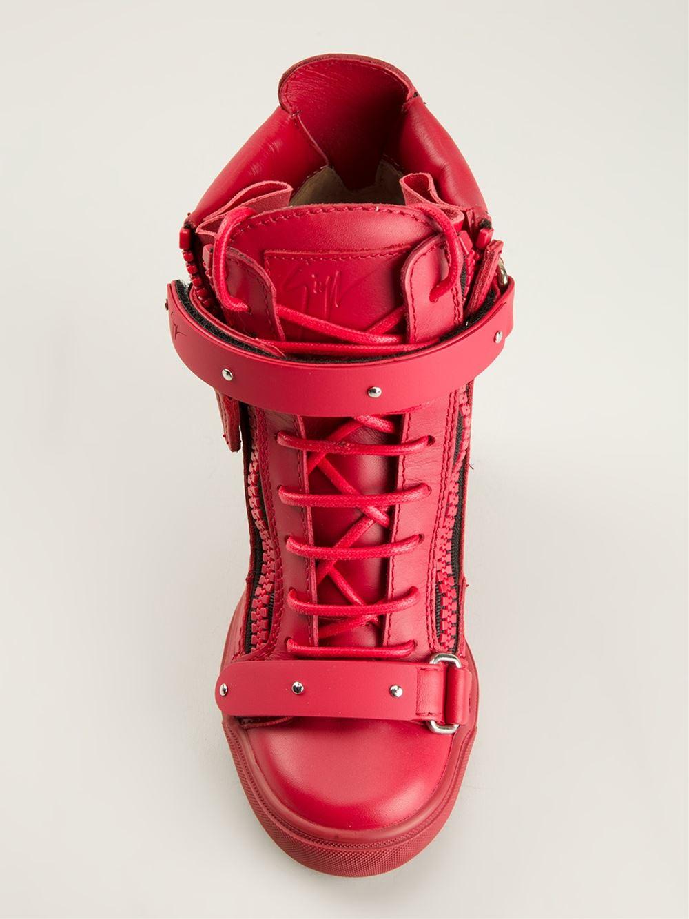 Giuseppe Zanotti Hitop Wedge Sneakers