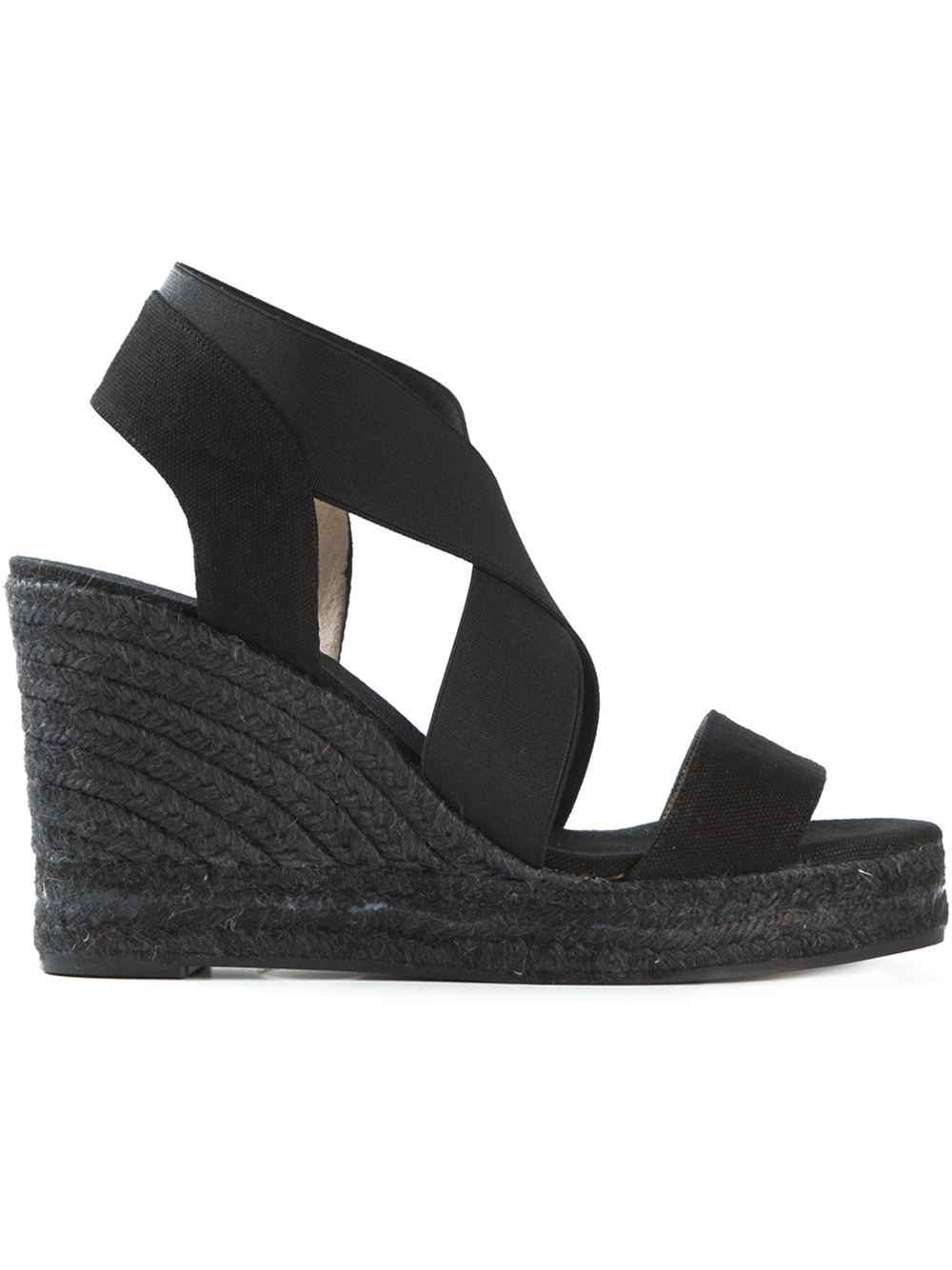 79397a6c230 Castaner  bernard  Wedge Sandals in Black - Lyst