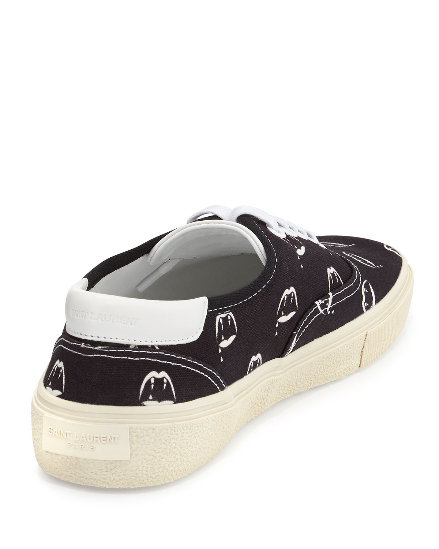 7f6ff732d94 Saint Laurent Blood Luster Lowtop Sneaker in Black for Men - Lyst