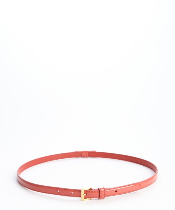 Prada Pink Patent Leather Skinny Bow Belt in Pink | Lyst