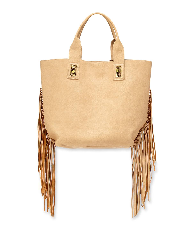 da04718cb6f8 Lyst Urban Originals Cali Fringe Faux Leather Tote Bag In Natural