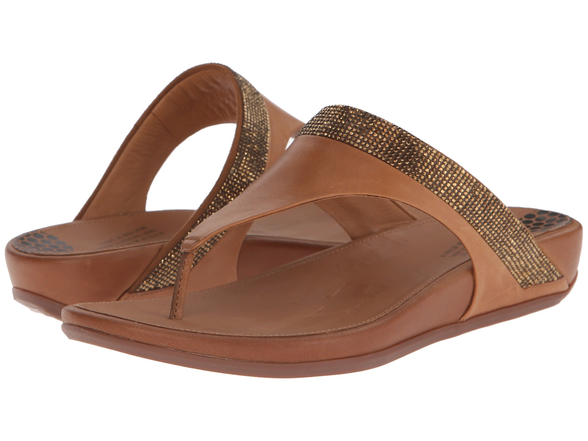 db616bdf79c63d Lyst - Fitflop Banda Micro-crystal Toe Post™ in Brown