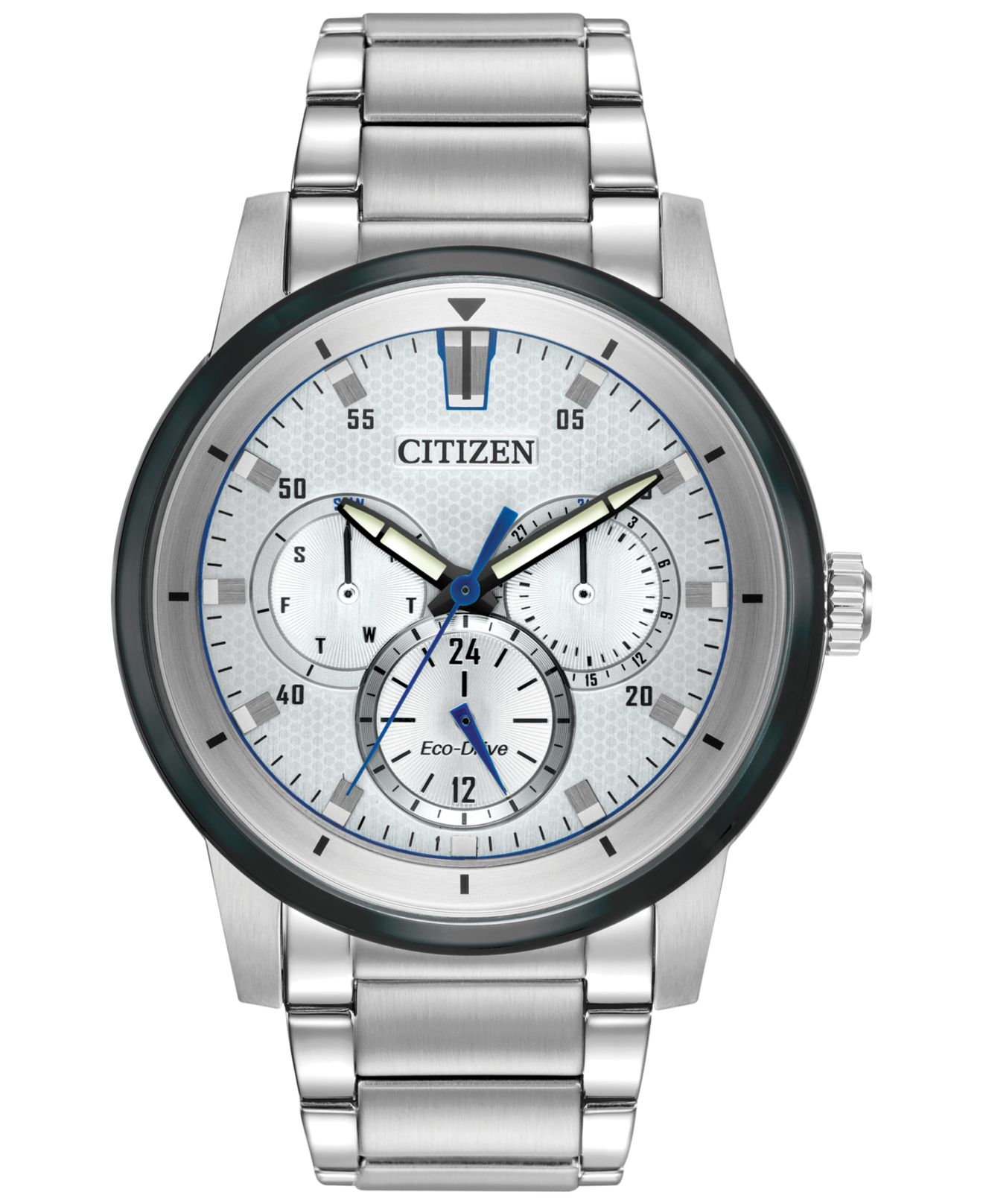 citizen s eco drive sport stainless steel bracelet