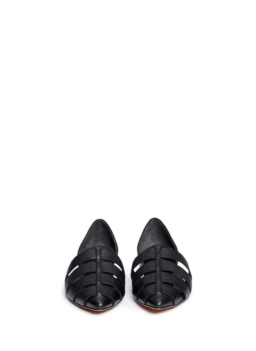 Lizard Embossed Women S Shoe