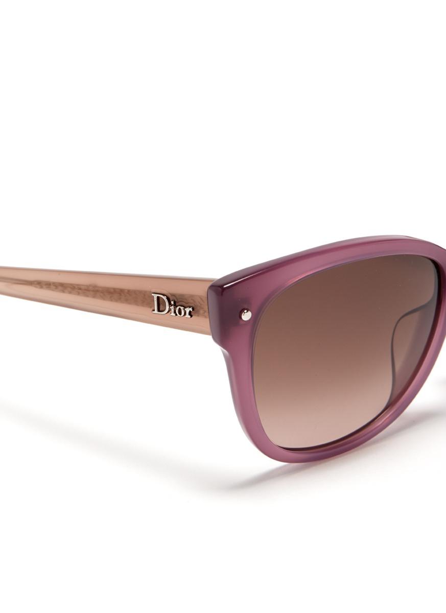 Dior Glasses Frame 2014 : Dior Squared Cat Eye Plastic Frame Sunglasses in Purple Lyst