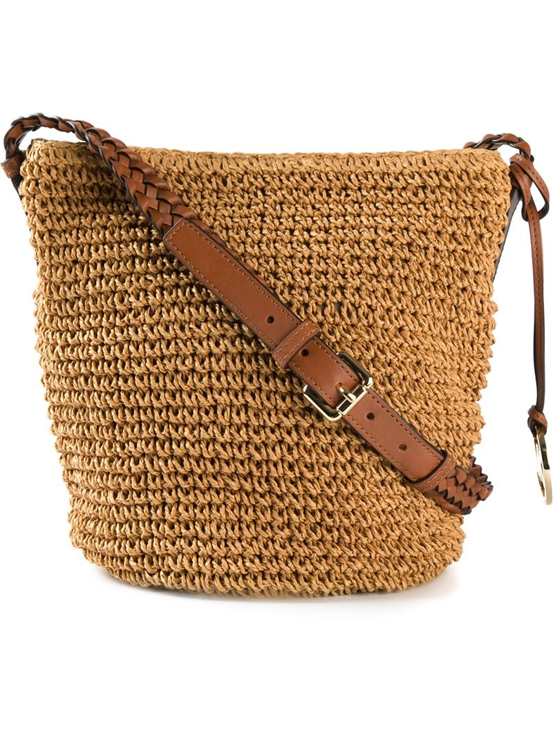 8ccc729d0d MICHAEL Michael Kors Braided-Strap Raffia Cross-Body Bag in Natural ...