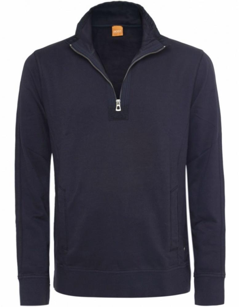 boss orange wince half zip sweater in black for men lyst. Black Bedroom Furniture Sets. Home Design Ideas