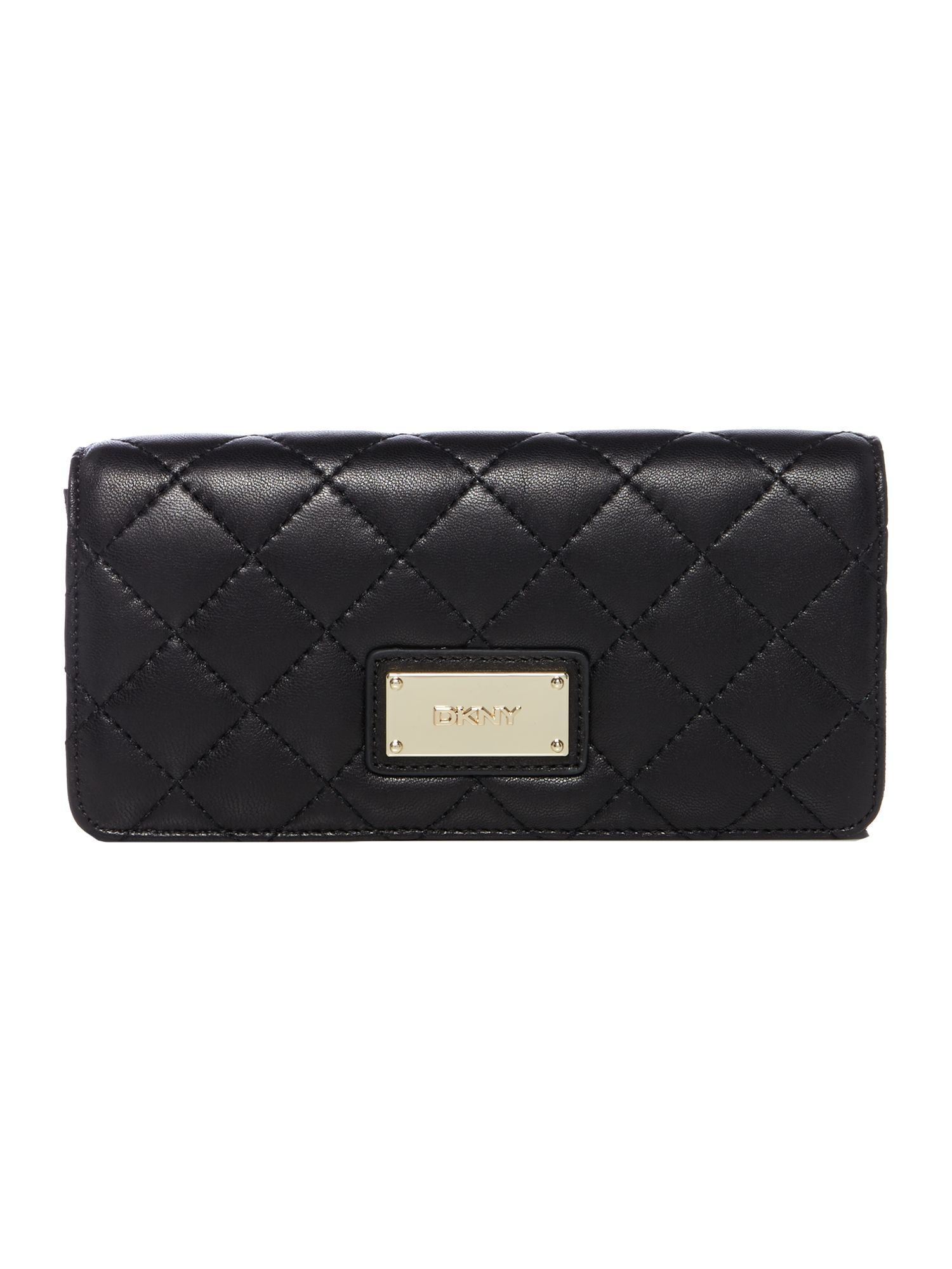 Dkny Quilted Nappa Black Large Flap Over Purse in Black | Lyst : dkny black quilted purse - Adamdwight.com