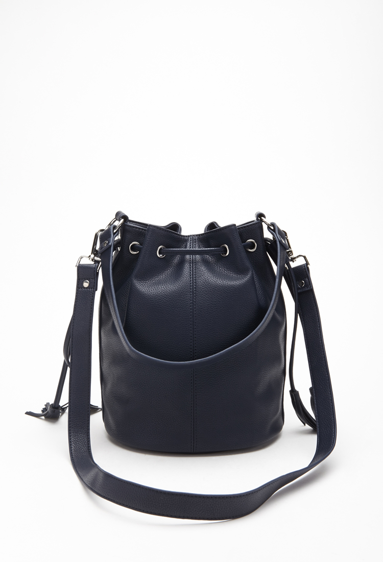 Forever 21 Faux Leather Bucket Bag in Blue