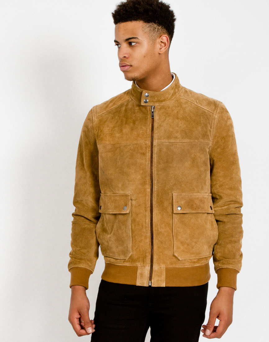 The idle man Suede Jacket Tan in Brown for Men | Lyst