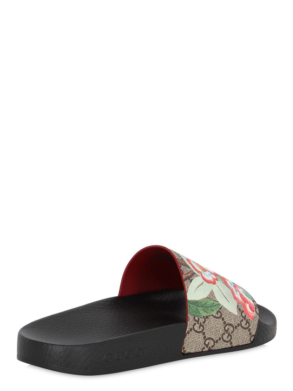 ed1d4cd2cdf Lyst - Gucci 20mm Pursuit Gg Supreme Slide Sandals