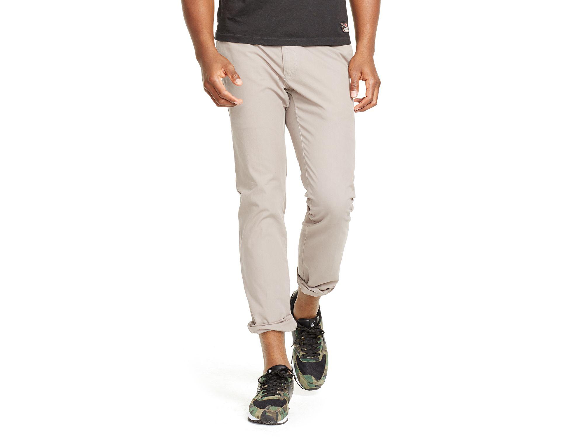 Slim-fit Stretch-cotton Chinos - GrayPolo Ralph Lauren Date De Sortie De Vente fhigpzyTnv