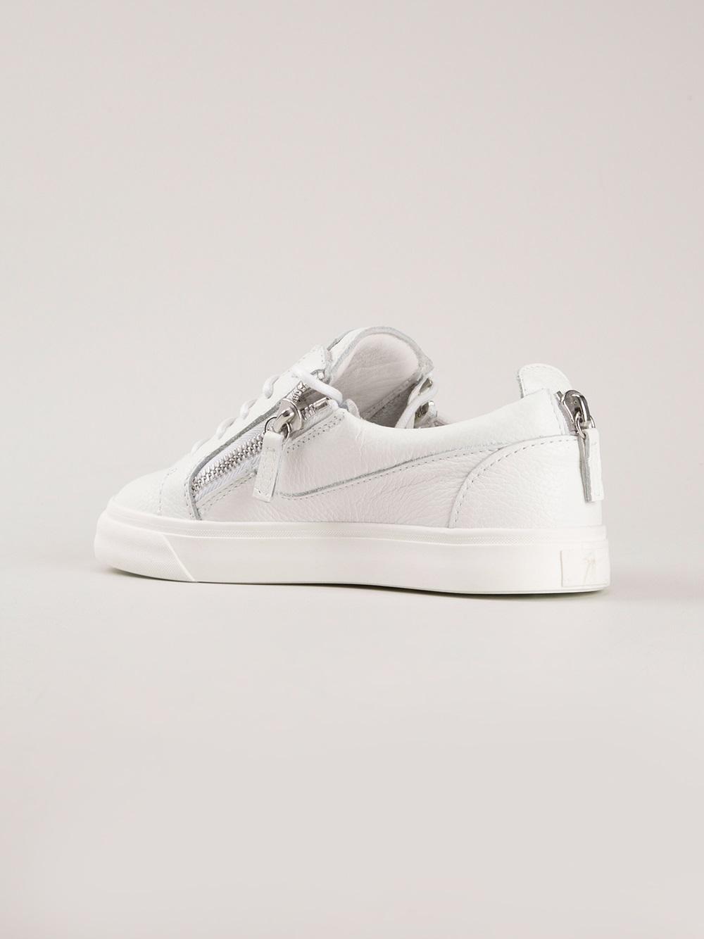 Giuseppe Zanotti Zip-up Sneakers in White