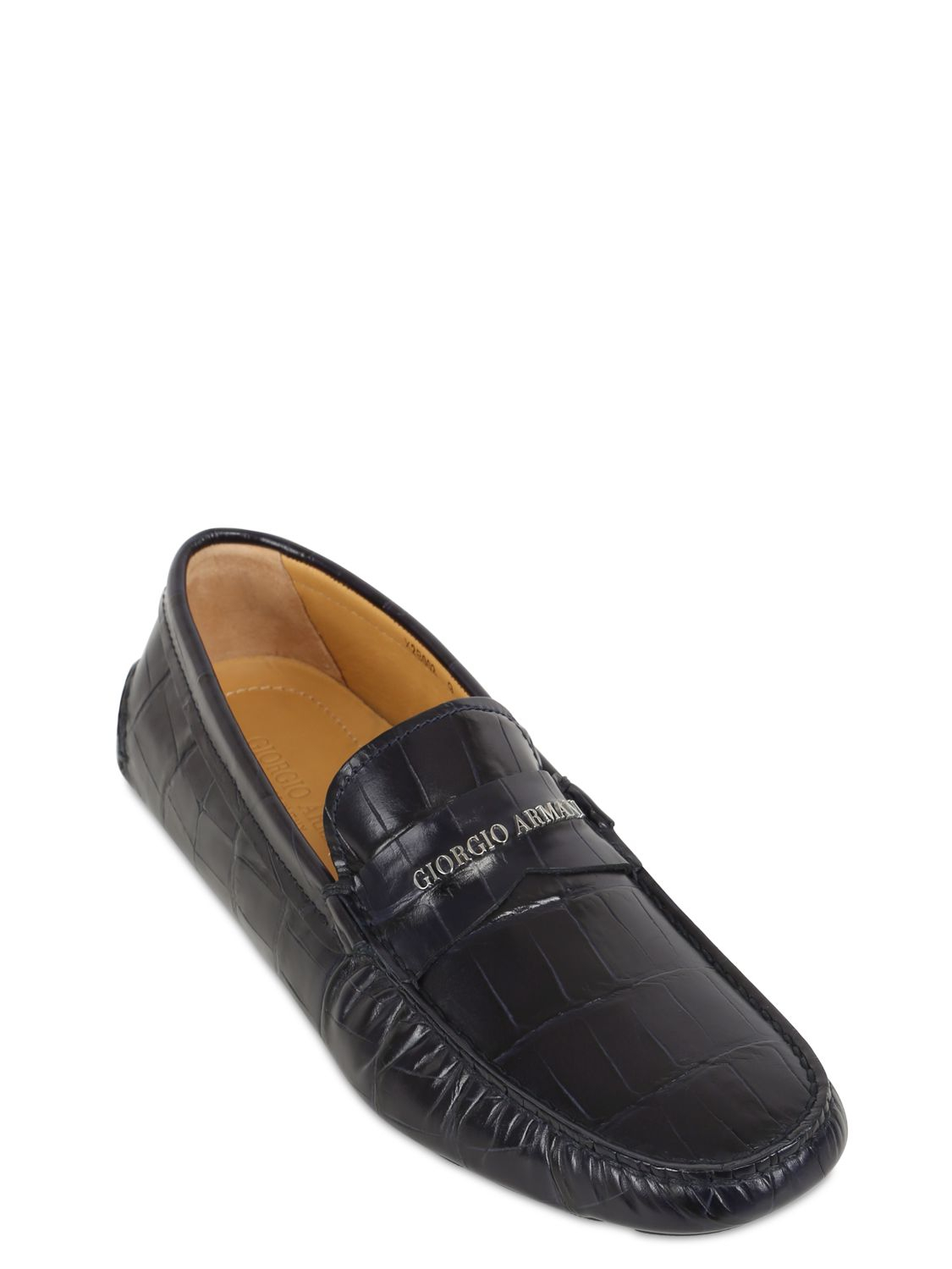 armani leather loafers, OFF 75%,Buy!