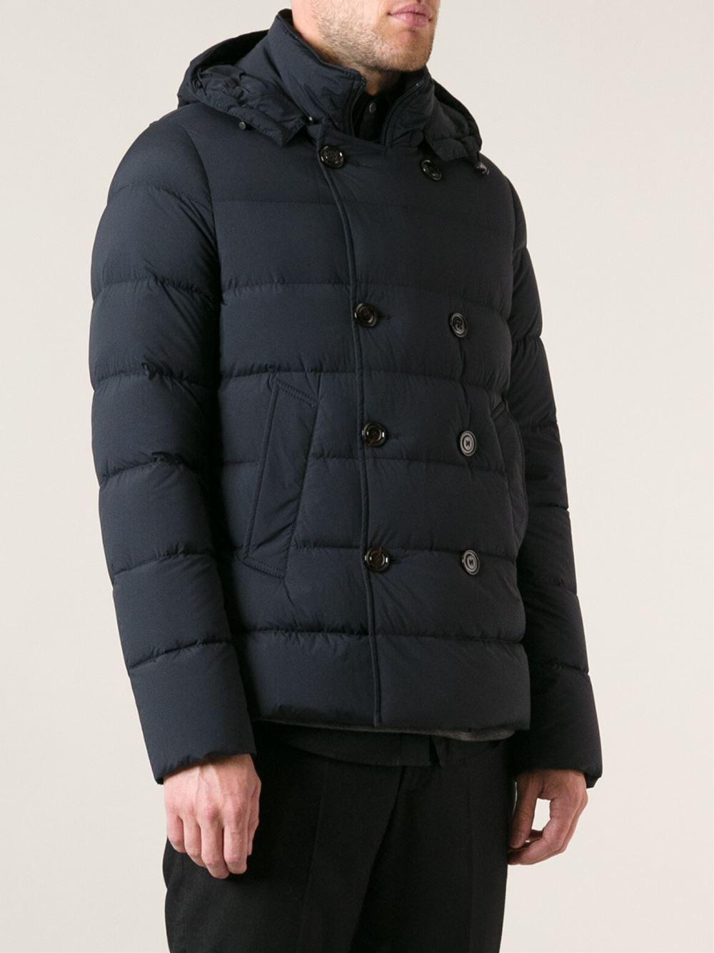 Moncler 'loirac' Padded Coat in Blue for Men