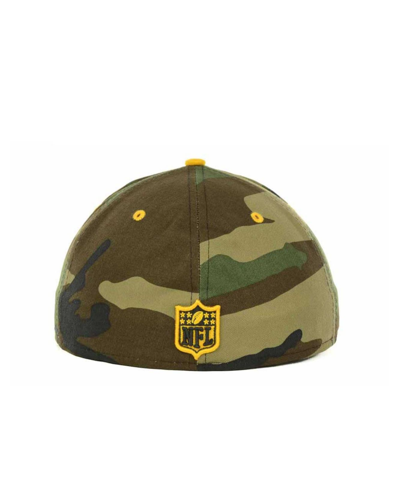 8bff1cea29f Lyst - Ktz Pittsburgh Steelers Camo Pop 59Fifty Cap in Green for Men