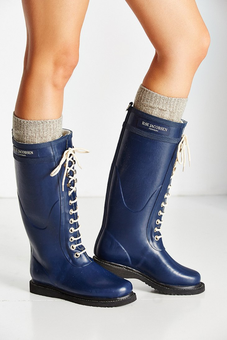 Ilse Jacobsen Rub 1 Warm Lining Rain Boot In Blue Lyst