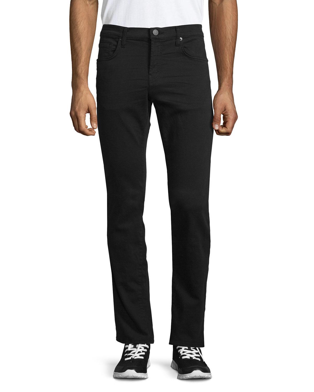 j brand tyler slim fit luxe terry jeans in black for men keckley lyst. Black Bedroom Furniture Sets. Home Design Ideas