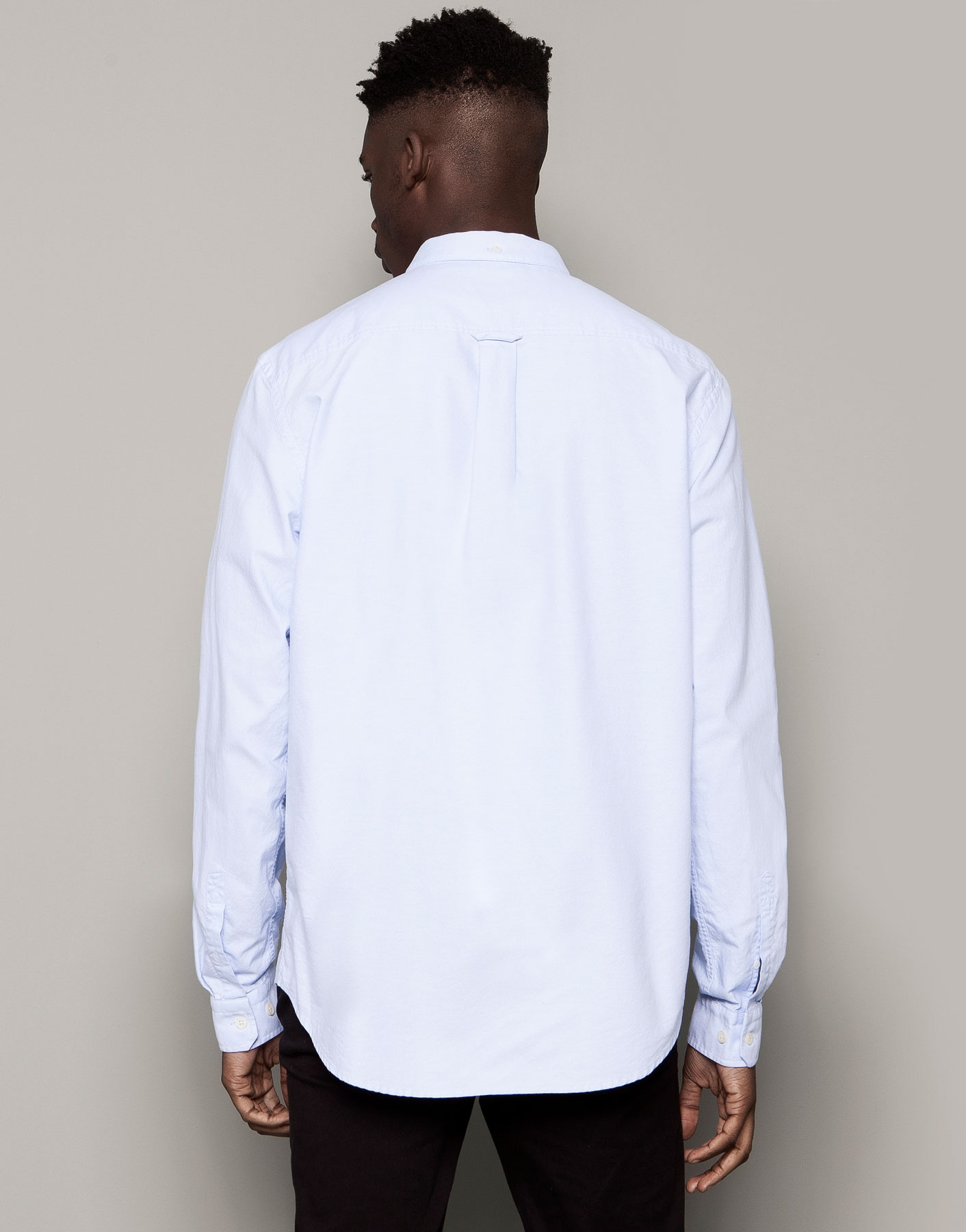 Pull bear long sleeve shirt in blue for men sky blue lyst for Bear river workwear shirts