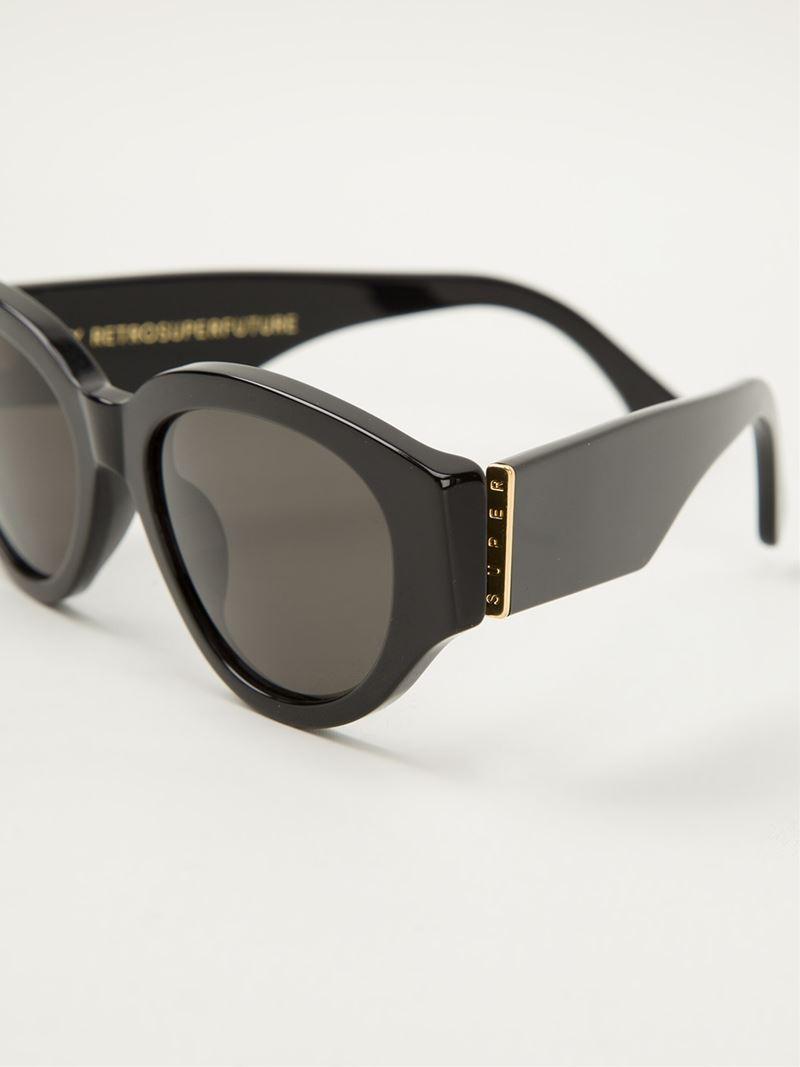 00a11fc879ac0 Retrosuperfuture  drew Mama  Sunglasses in Black - Lyst
