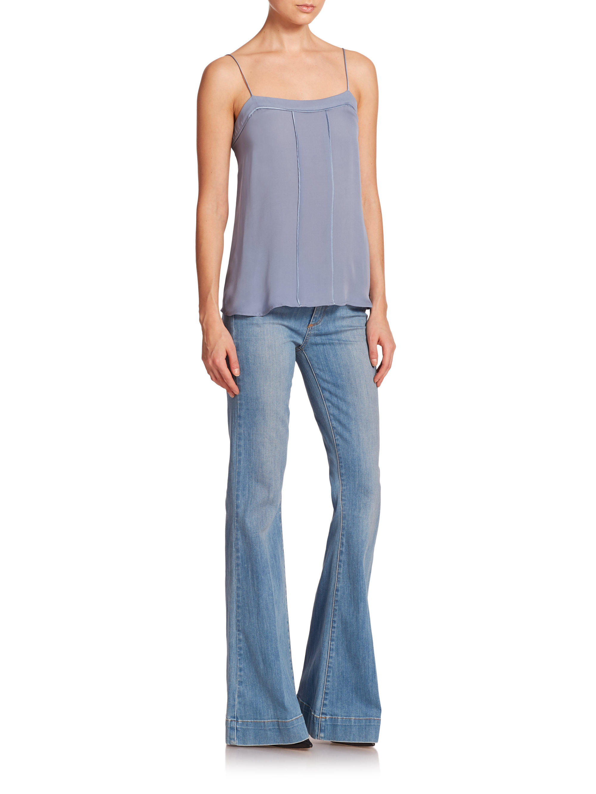 Paige Fiona High-rise Flare Jeans in Blue | Lyst