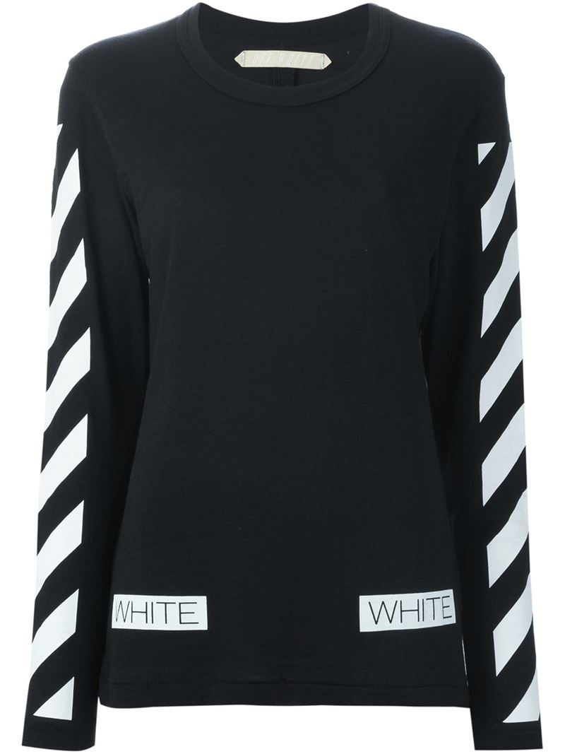Off-White long sleeve cropped logo embroidered cotton sweatshirt Get Authentic Shopping Online Clearance Many Colors Sale Cheap Sale Brand New Unisex 3mqzYw9