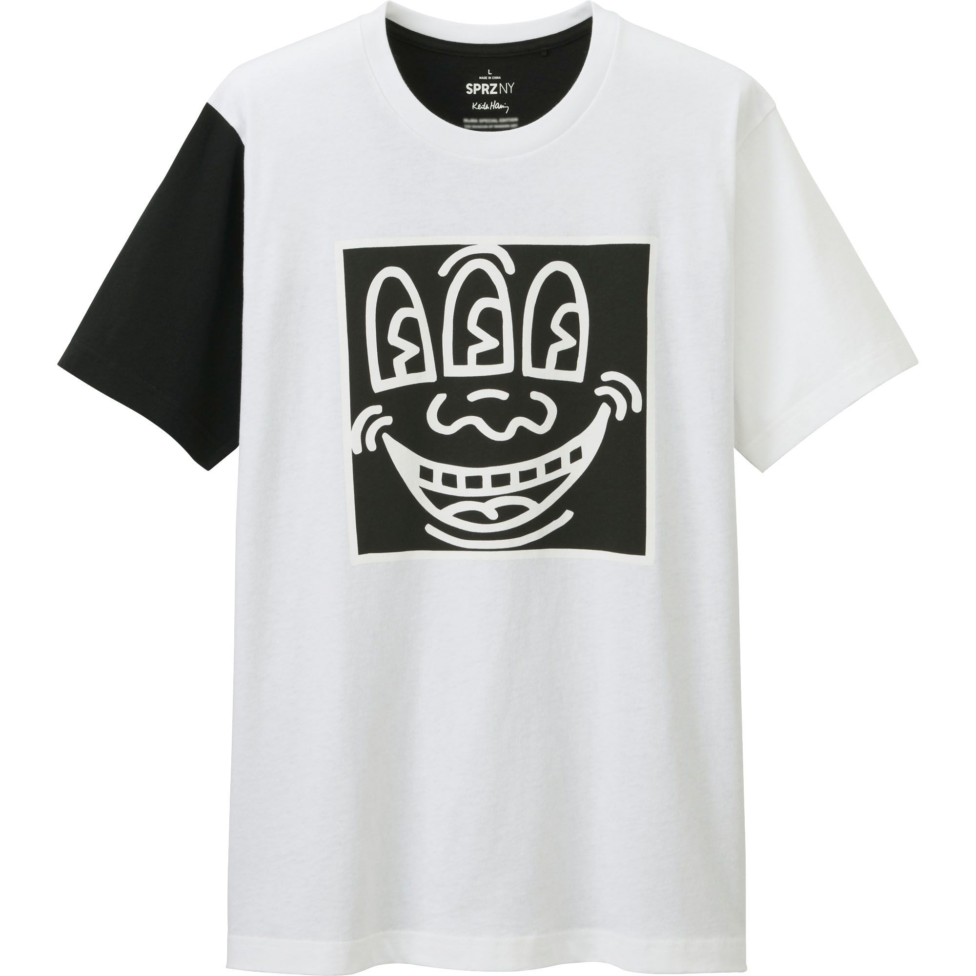 Uniqlo men sprz ny graphic t shirt keith haring in black for Uniqlo moma t shirt
