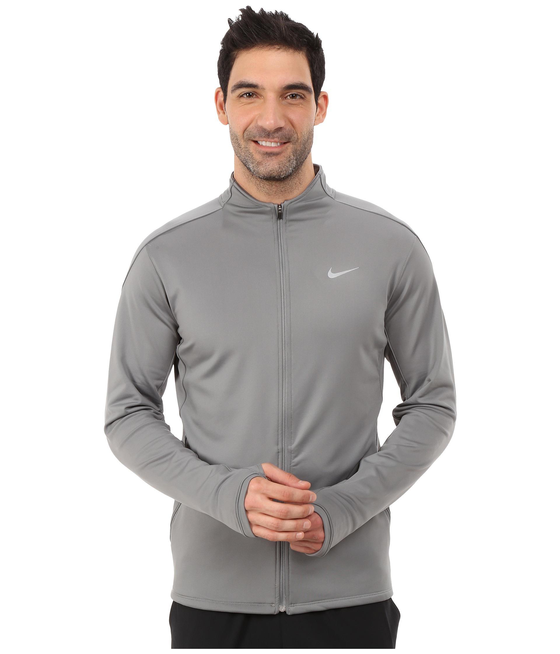 a802ae89a6cc2 Men's Gray Dri-fit™ Thermal Full-zip Running Jacket