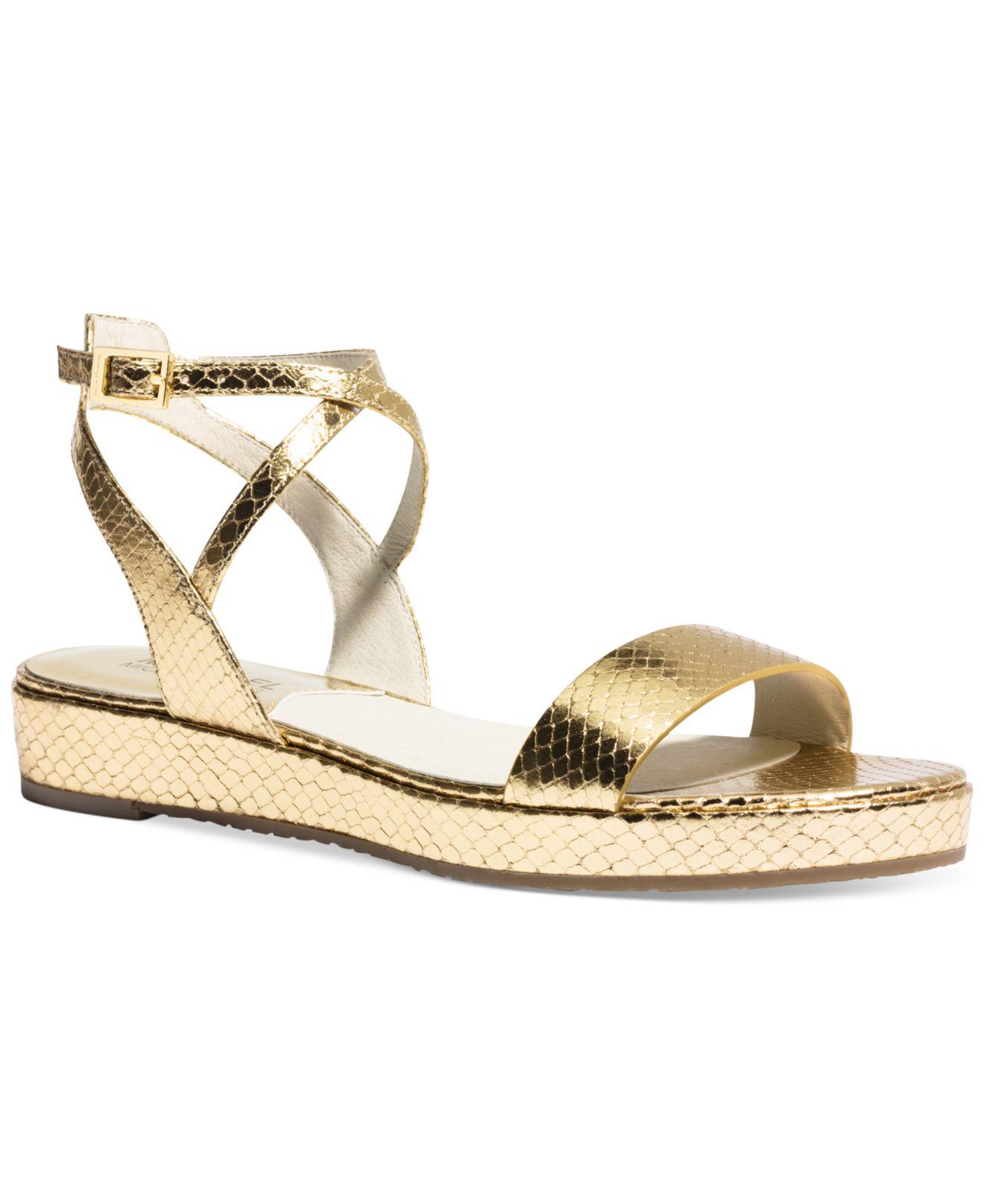 Wpmen Flat Shoes Color Gold