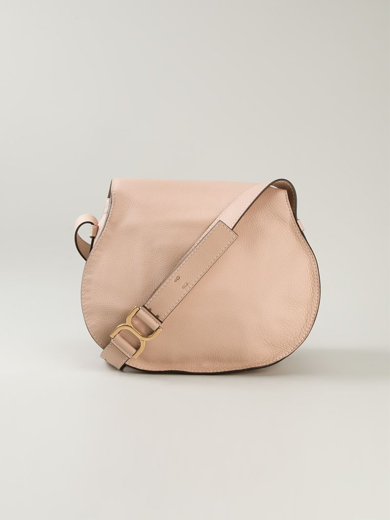 Chloé 'marcie' Crossbody Bag in Pink & Purple (Pink)