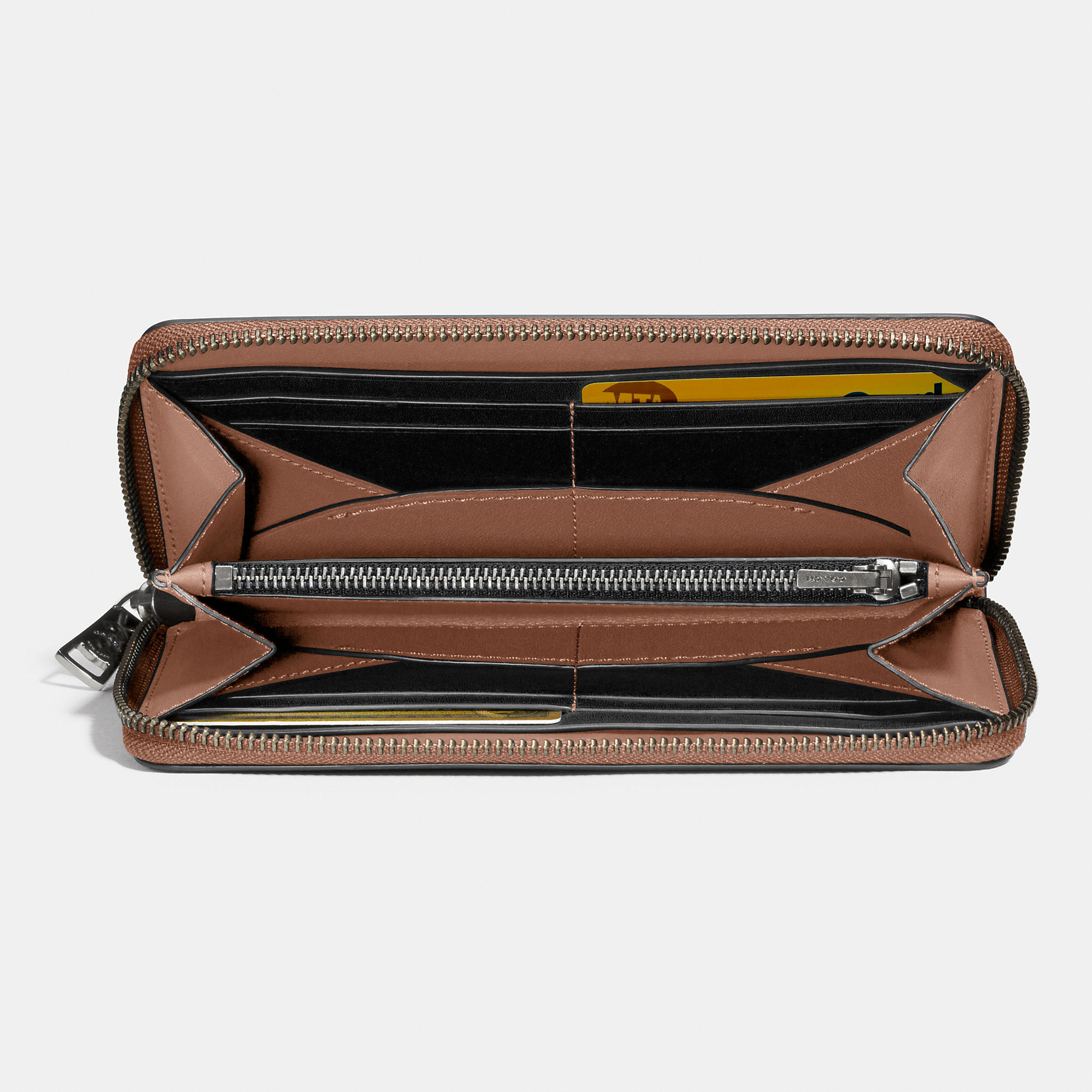 ad2ade37ec18 ... closeout lyst coach 1941 accordion zip wallet in glovetanned leather in  brown d0c35 24ea3