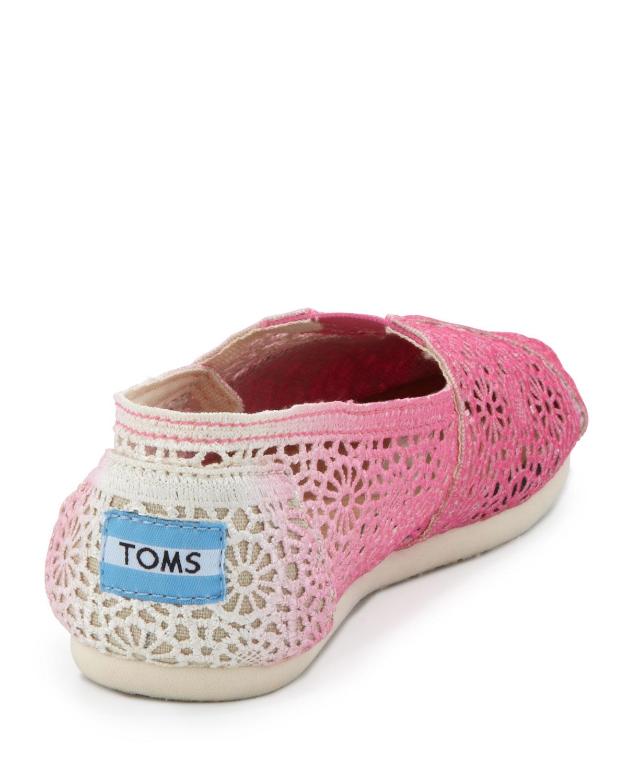 toms ombre crochet slipon fuchsia in pink lyst