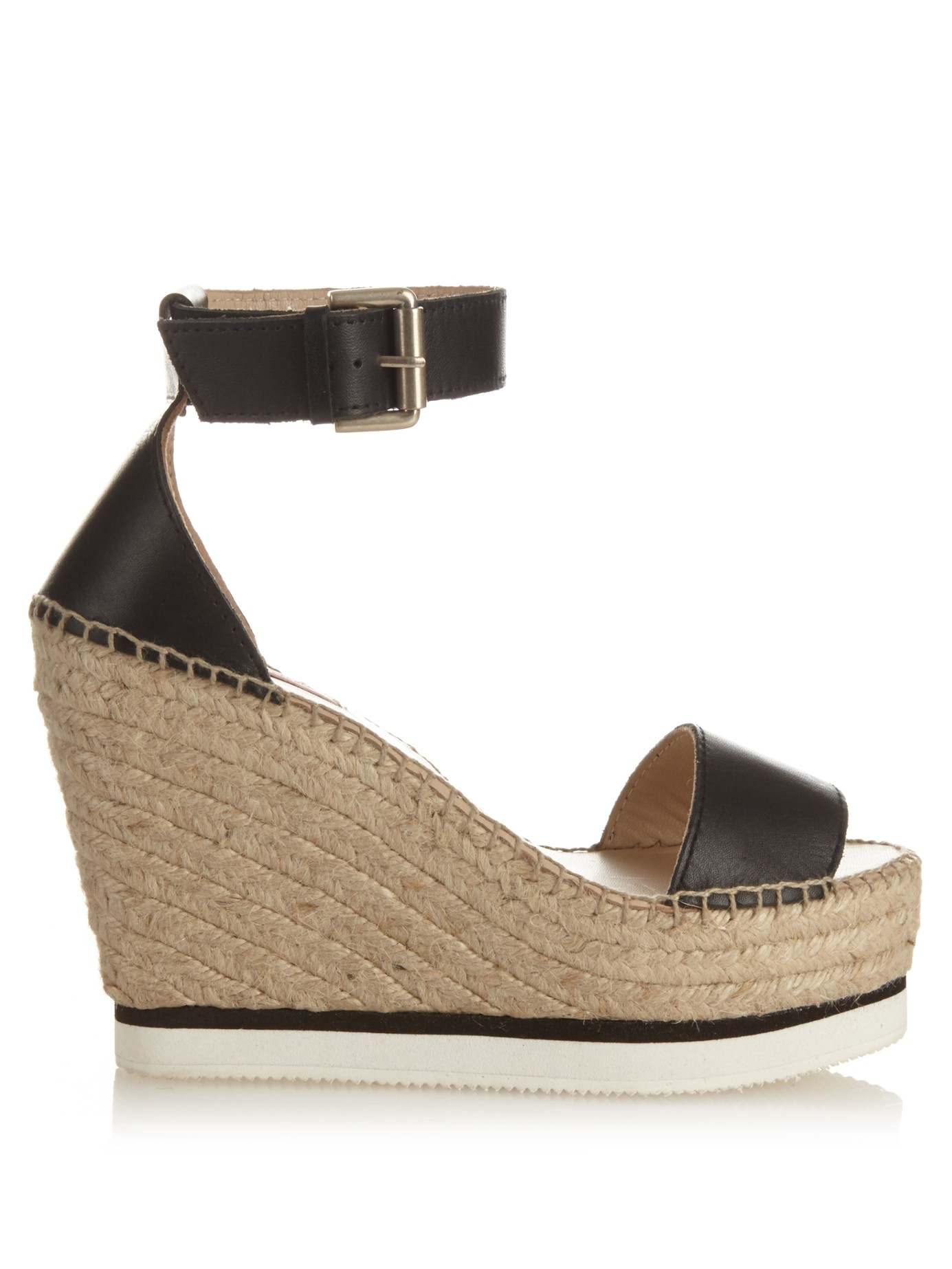6466715eac1 Lyst - See By Chloé Glynn Leather Wedge Espadrille Sandals in Blue
