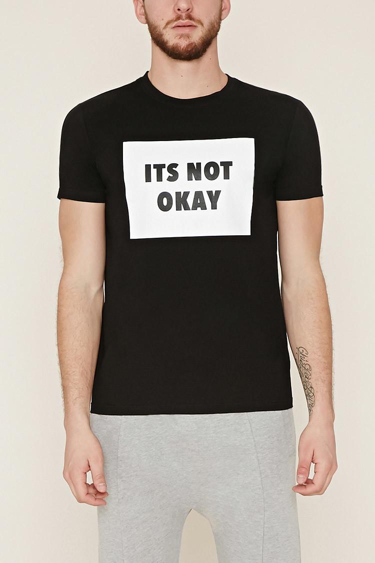 Forever 21 Not Okay Graphic Tee In Black For Men Lyst
