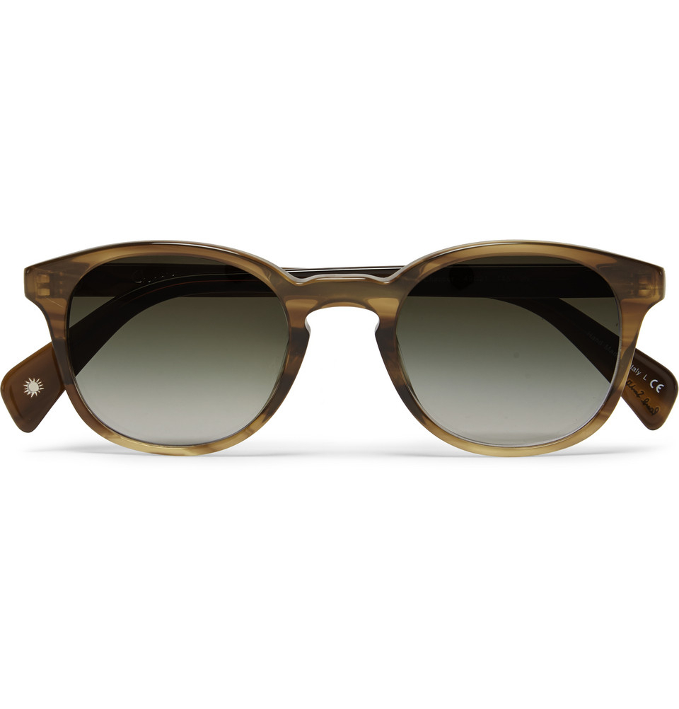5c35373c4 Paul Smith Chaucer Acetate Round-Frame Sunglasses in Brown for Men ...