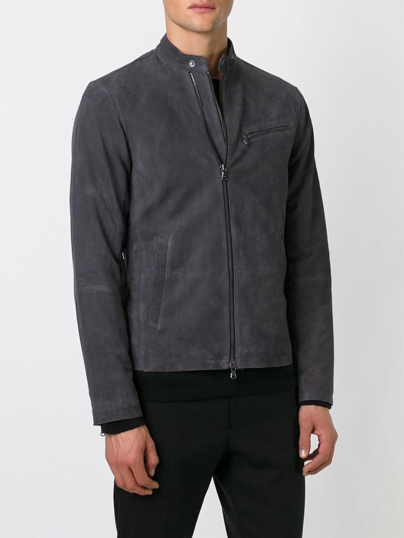 John Varvatos Goat Skin Jacket in Grey (Grey) for Men