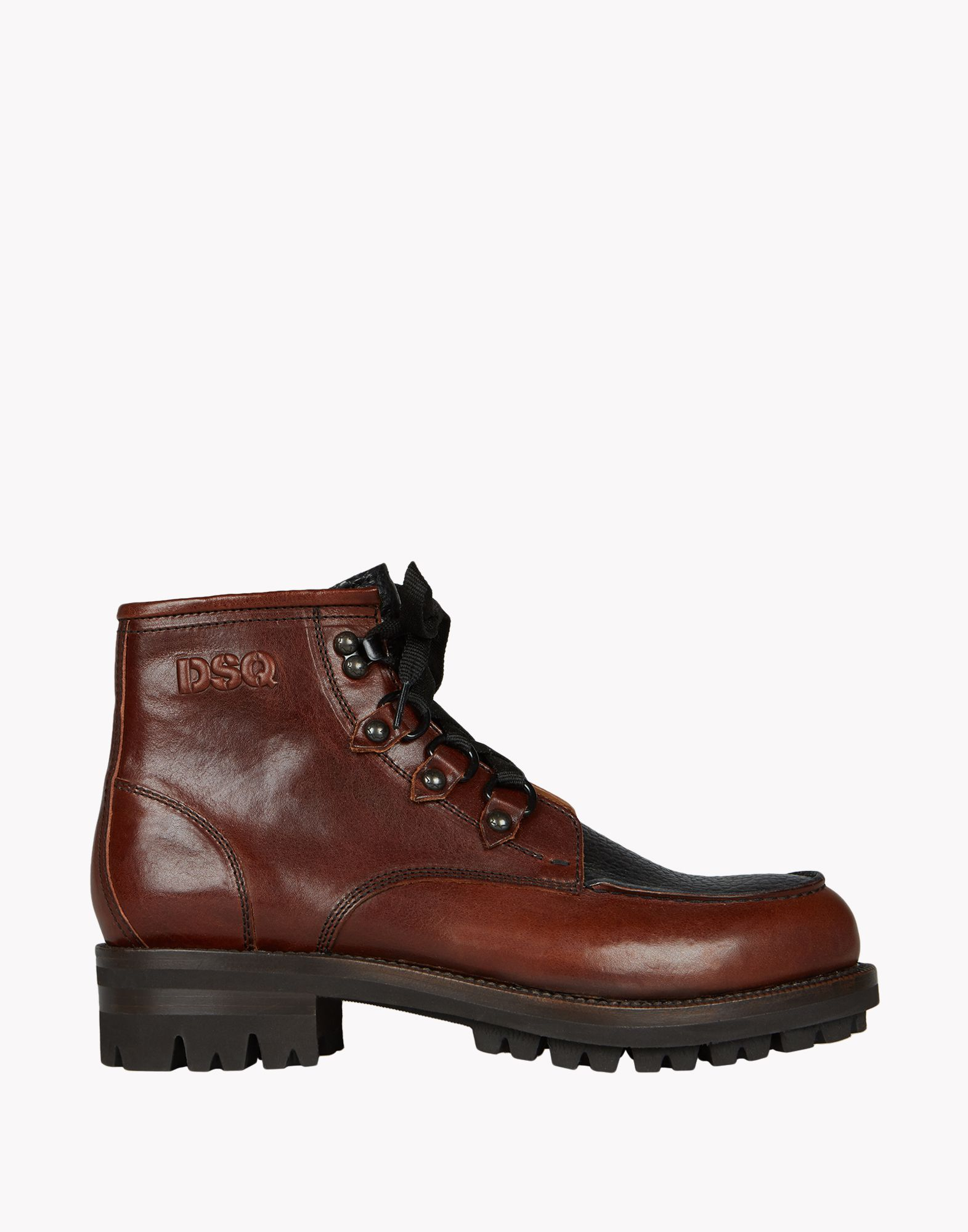 dsquared 178 construction ankle boots in brown for lyst