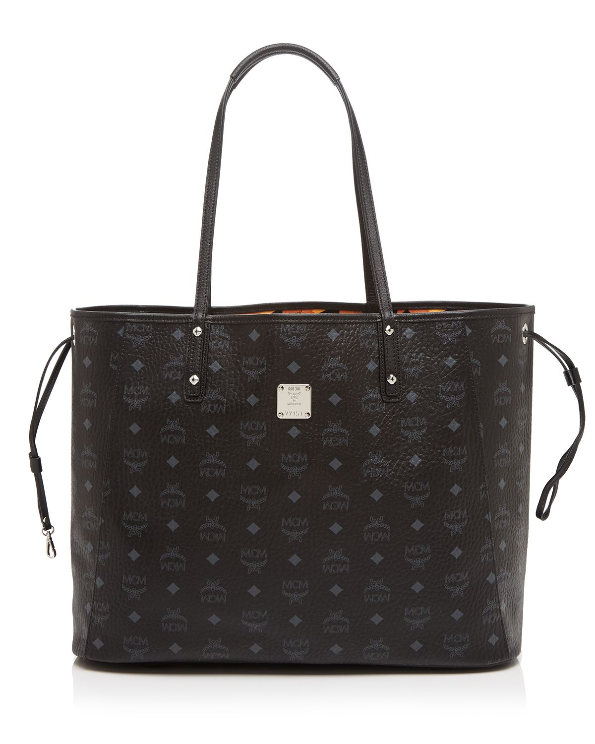 mcm shopper project visetos reversible large tote in black lyst. Black Bedroom Furniture Sets. Home Design Ideas