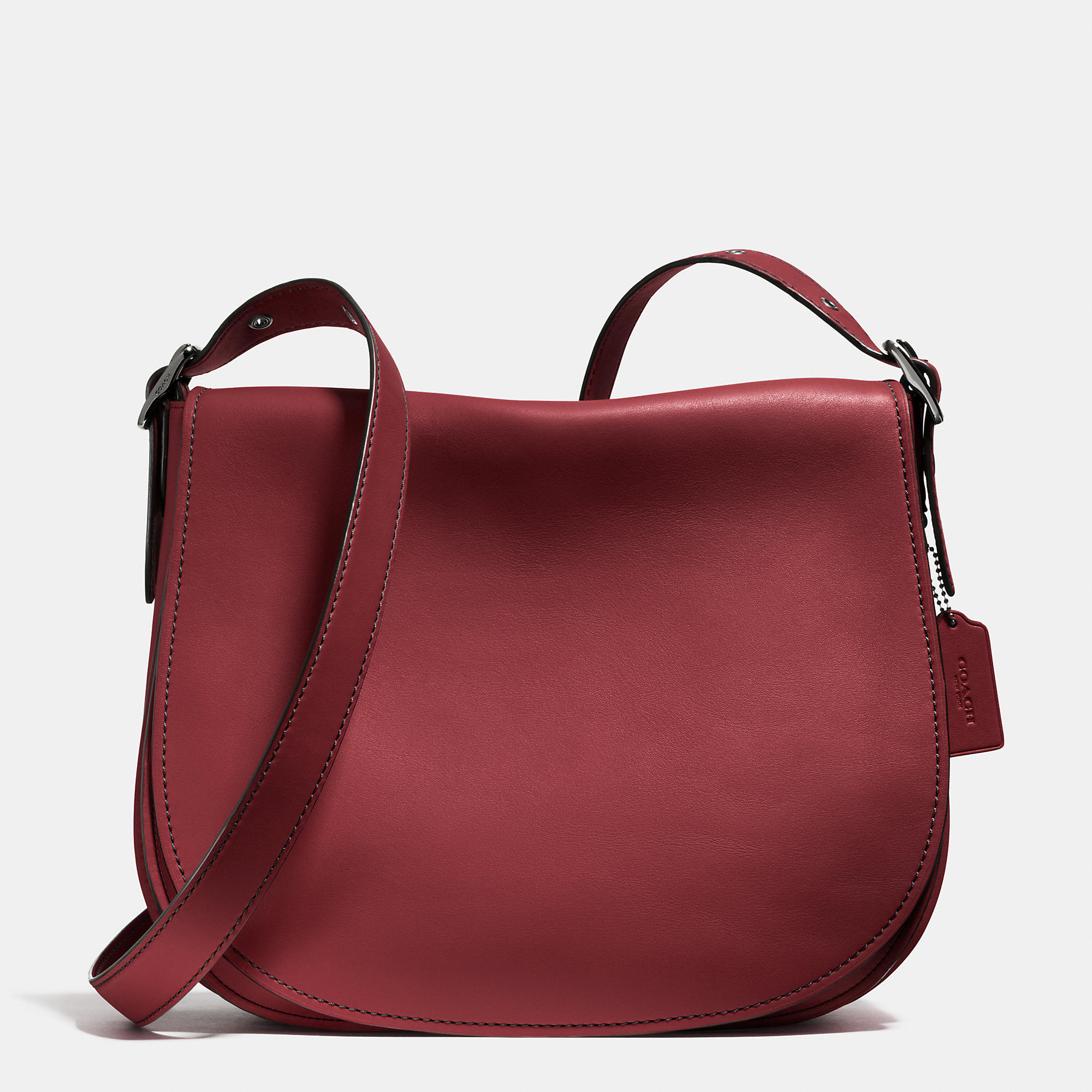 Coach Saddle Bag 35 In Glovetanned Leather In Purple Lyst