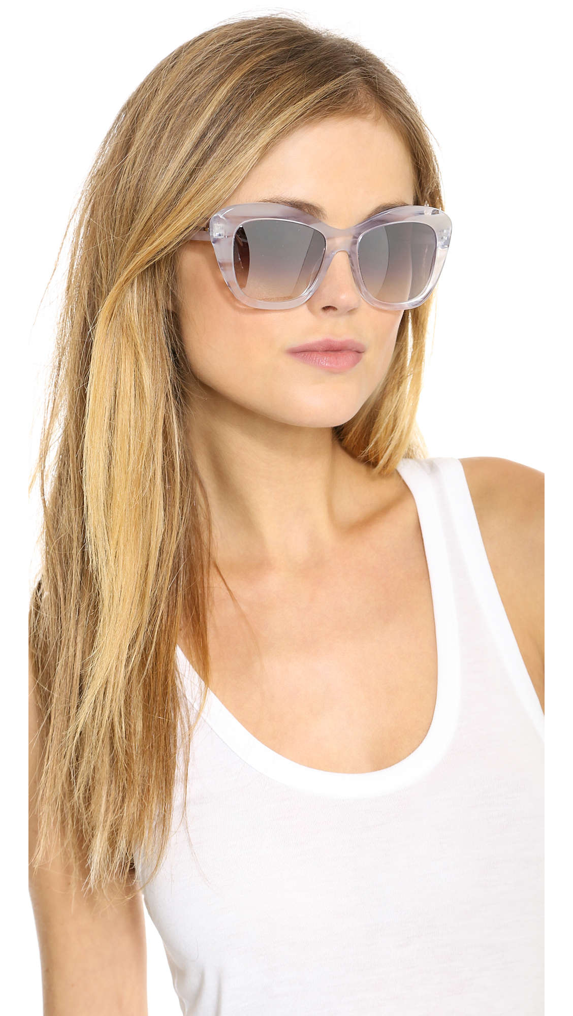 Oliver Peoples Emmy Mirror Sunglasses - Ghost