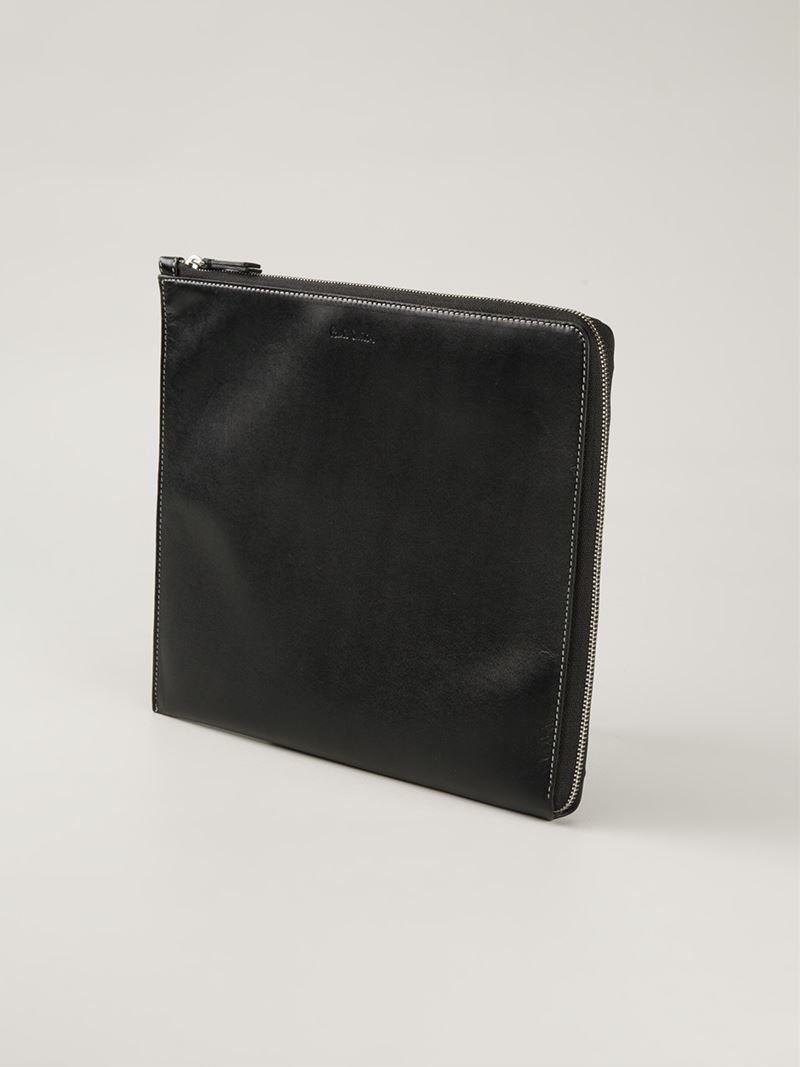 lyst paul smith laptop case in black for men. Black Bedroom Furniture Sets. Home Design Ideas