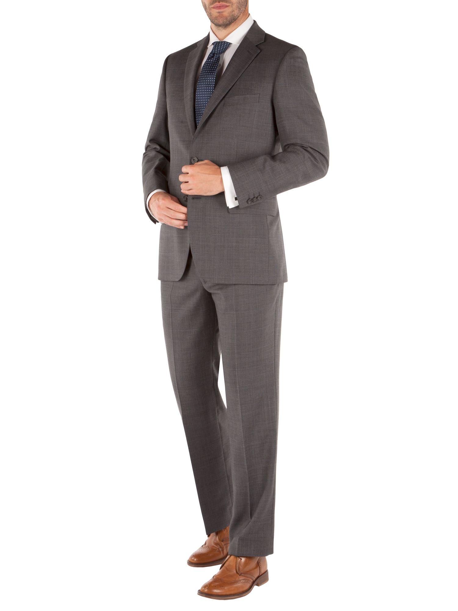 Pierre Cardin Wool Check Regular Fit Trousers in Grey (Grey) for Men
