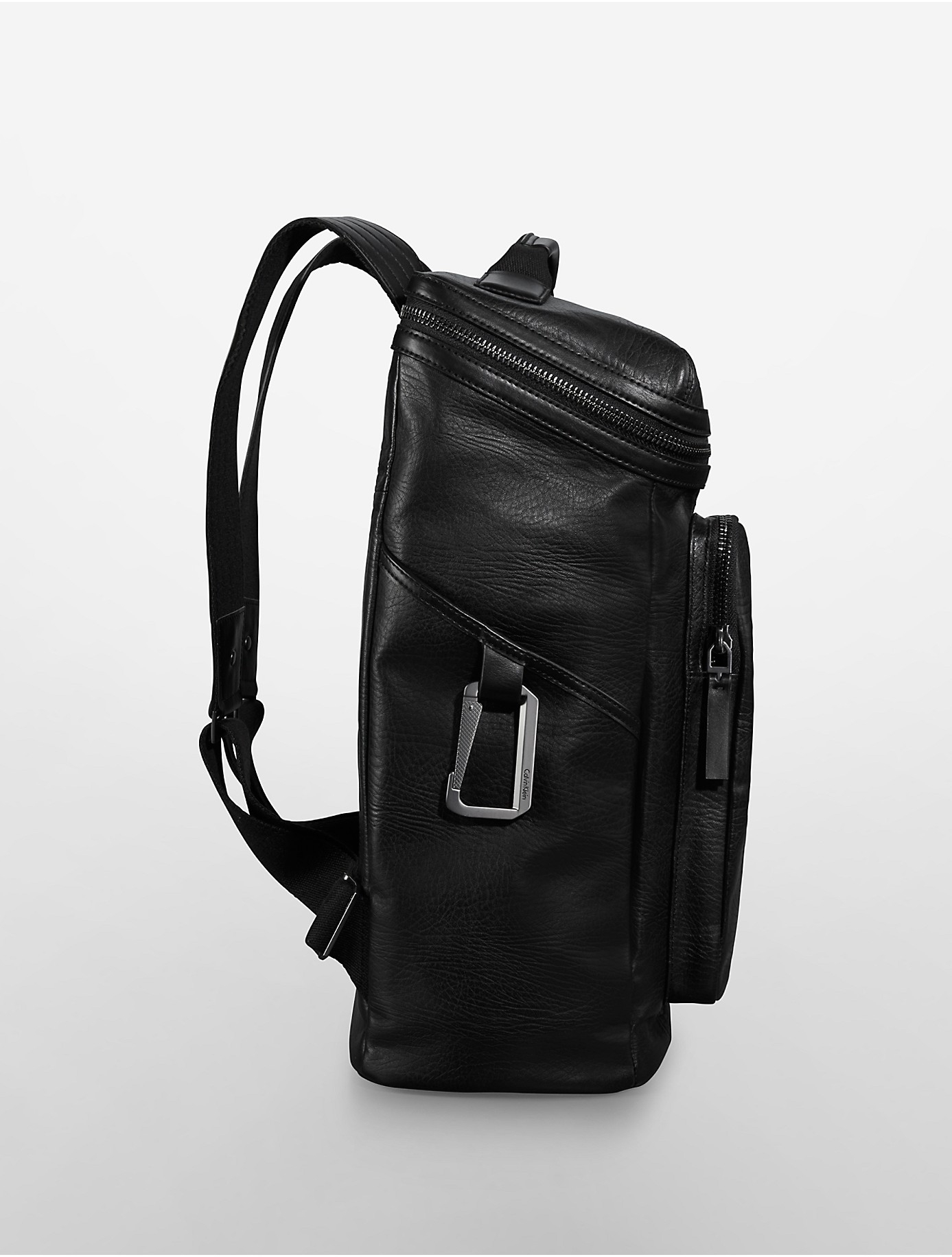 Lyst Calvin Klein Jeans William Textured Leather Backpack In Black 104530d015031