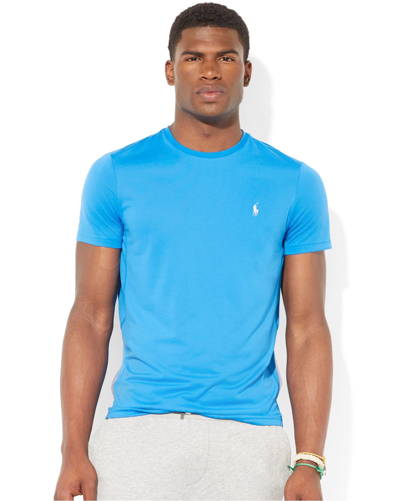 lyst polo ralph lauren performance jersey t shirt in blue for men. Black Bedroom Furniture Sets. Home Design Ideas