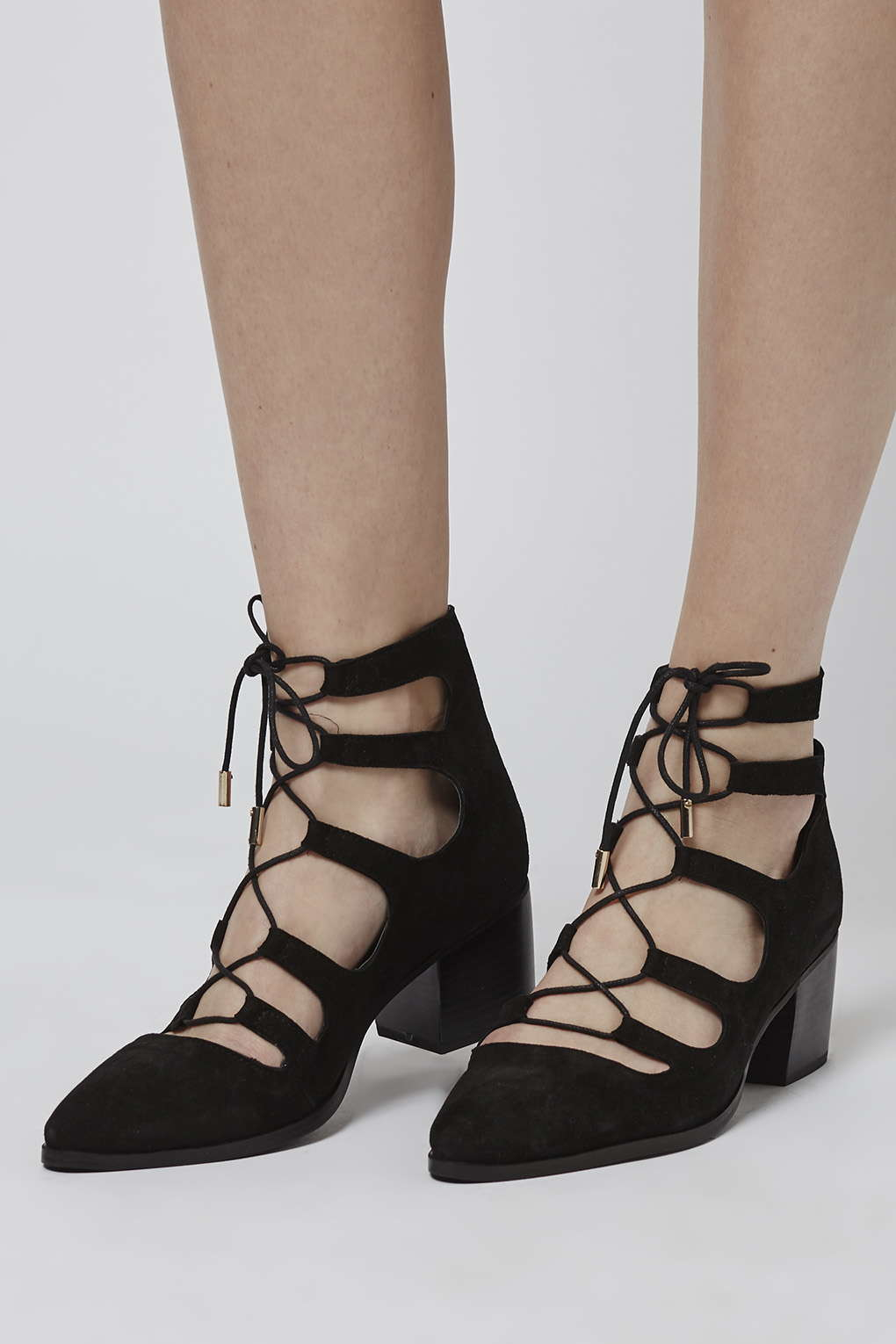 Lyst Topshop Jill Ghillie Shoes In Black